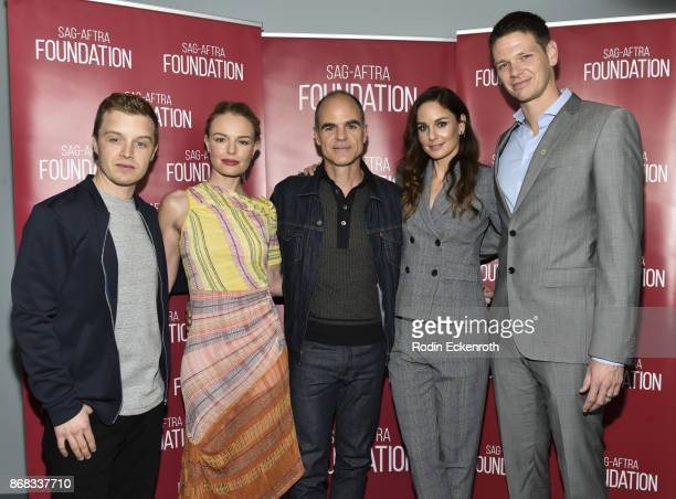 Actors Noel Fisher Kate Bosworth Michael Kelly Sarah Wayne Callies and Jon Beavers pose for portrait at SAGAFTRA Foundation Conversations screening...