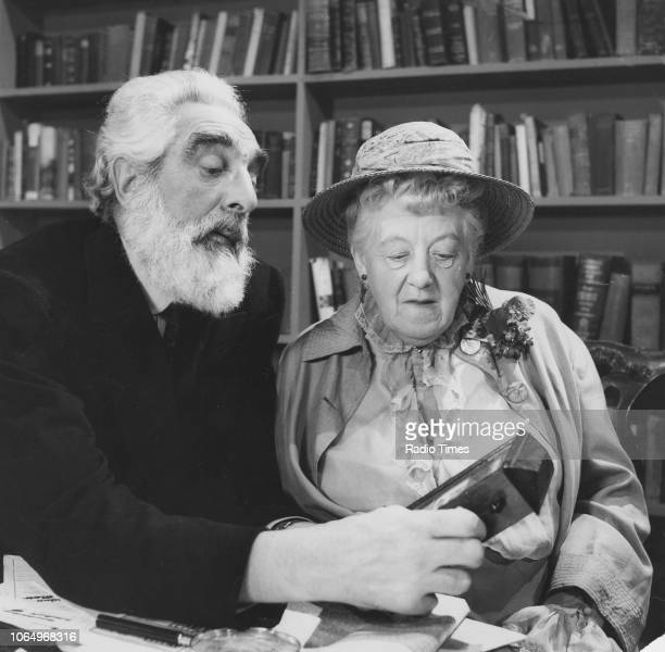 Actors Noel Purcell and Margaret Rutherford in a scene from the television drama 'Day After Tomorrow' March 25th 1960