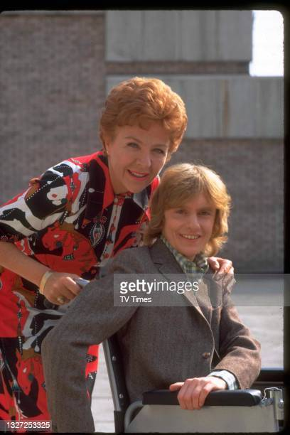 Actors Noele Gordon and Roger Tonge in character as Meg and Sandy Richardson in television soap Crossroads, circa 1975.