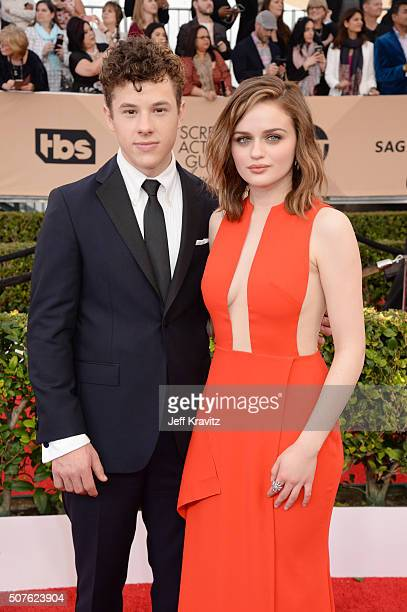 Actors Nolan Gould and Joey King attend the 22nd Annual Screen Actors Guild Awards at The Shrine Auditorium on January 30 2016 in Los Angeles...