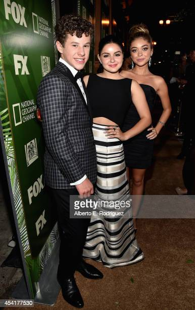 Actors Nolan Gould Ariel Winter and Sarah Hyland attend the FOX 20th Century FOX Television FX Networks and National Geographic Channel's 2014 Emmy...
