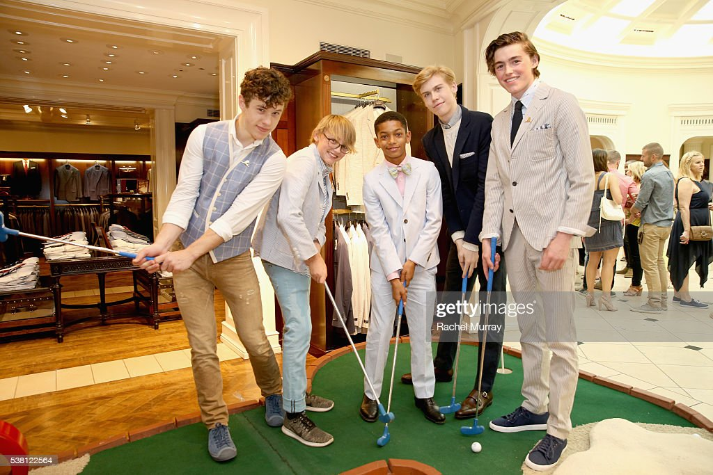 Brooks Brothers Hosts Mini Classic To Benefit St. Jude Children's Research Hospital At Brooks Brothers Beverly Hills