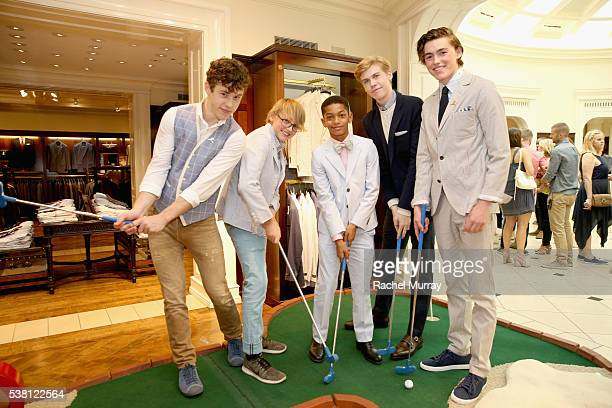 Actors Nolan Gould Phoenix List Sayeed Shahidi Aidan Alexander and Spencer List attend Brooks Brothers Mini Classic to Benefit St Jude Children's...