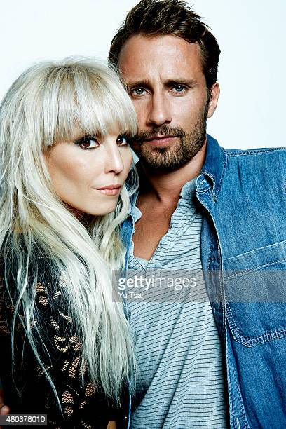 Actors Noomi Rapace and Matthias Schoenaertsare photographed at the Toronto Film Festival for Variety on September 6 2014 in Toronto Ontario