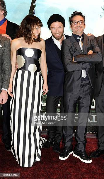 Actors Noomi Rapace Jude Law and Robert Downey Jr arrive at the European Premiere of 'Sherlock Holmes A Game of Shadows' at Empire Leicester Square...