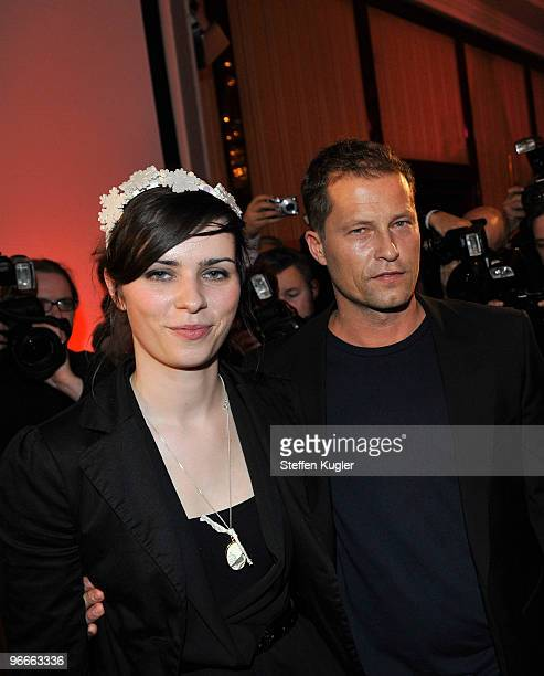 Actors Nora Tschirner and Til Schweiger attend the Medienboard Reception 2010 during day four of the 60th Berlin International Film Festival on...
