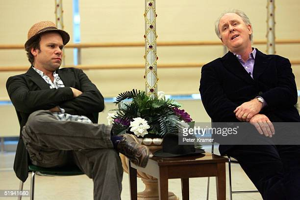 Actors Norbert Leo Butz and John Lithgow rehearse scenes from their new musical Dirty Rotten Scoundrels which will preview on January 31 2005 in New...