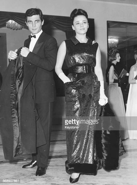 Actors Norma Benguell and Gabriele Tinti attending a performance of 'Falstaff' at Rome Opera House Italy December 27th 1963
