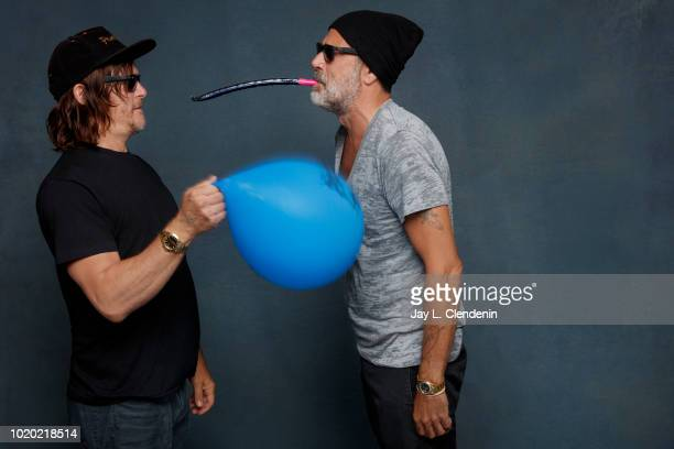 Actors Norman Reedus and Jeffrey Dean Morgan from 'The Walking Dead' are photographed for Los Angeles Times on July 21, 2018 in San Diego,...