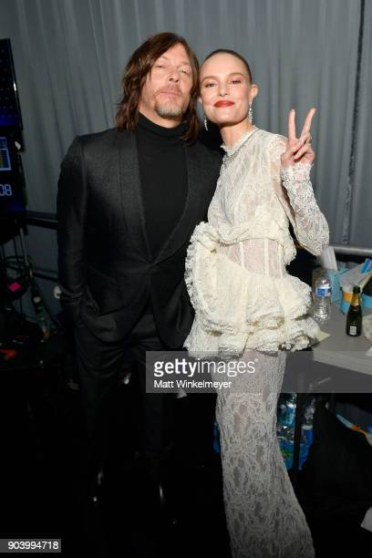 Actors Norman Reedus and Kate Bosworth attend The 23rd Annual Critics' Choice Awards at Barker Hangar on January 11 2018 in Santa Monica California