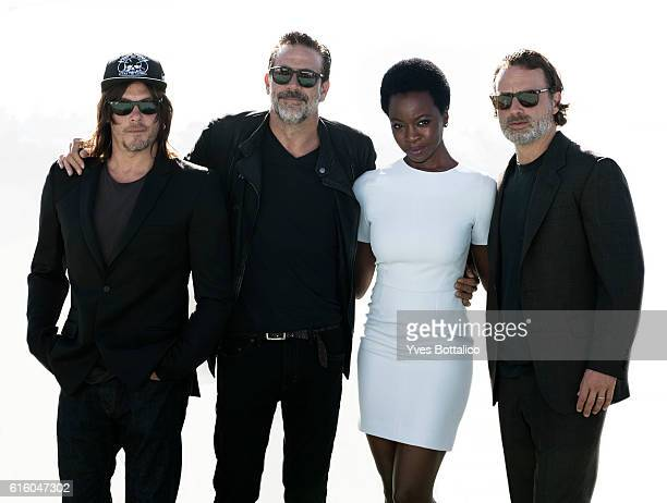 Actors Norman Reedus Jeffrey Dean Morgan Danai Gurira Andrew Lincoln are photographed for Self Assignment on July 1 2016 in San Diego CA