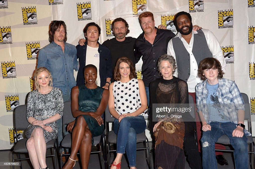 "AMC's ""The Walking Dead"" Panel - Comic-Con International 2014 : News Photo"