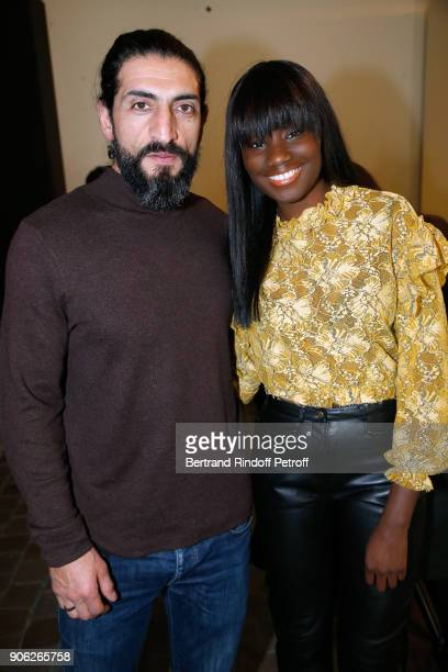 Actors Numar Acar and Karidja Toure attend the 'YSL Beauty Hotel' event during Paris Fashion Week Menswear Fall/Winter 20182019 on January 17 2018 in...