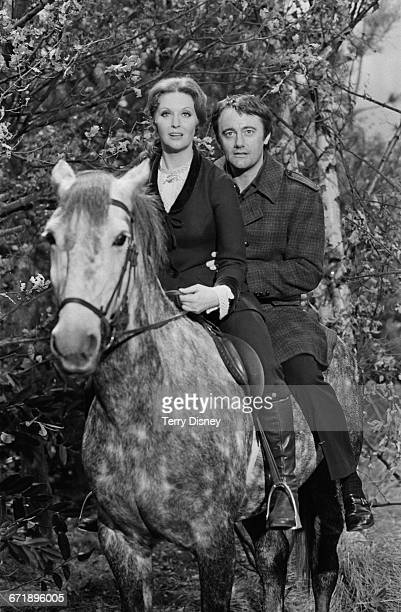 Actors Nyree Dawn Porter and Robert Vaughn who are to star together in a new British television series 'The Protectors' UK 2nd November 1971 The...