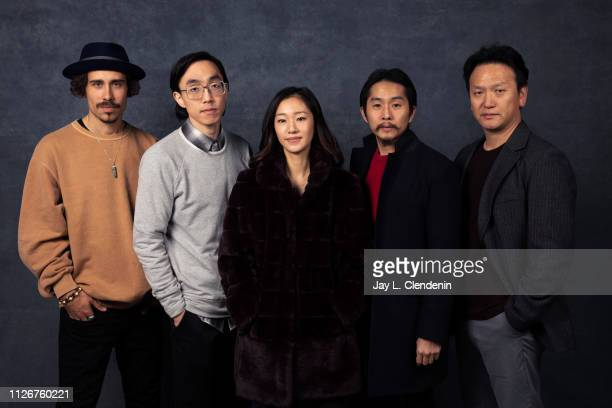 Actors Octavio Pizano Teddy Lee Tiffany Chu director Justin Chon and James Kang from 'Ms Purple' are photographed for Los Angeles Times on January 25...