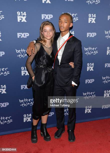 Actors Odessa Adlon and Jaden Smith attend the premiere of FX's Better Things Season 2 at Pacific Design Center on September 6 2017 in West Hollywood...