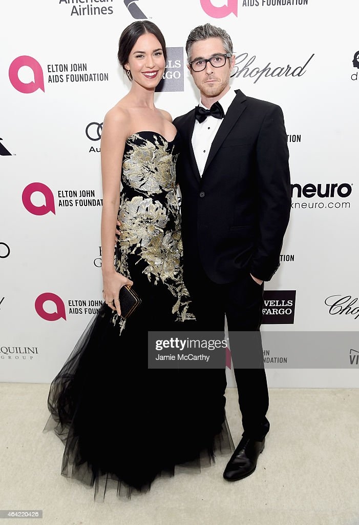 Actors Odette Annable (L) and Dave Annable attend the 23rd Annual Elton John AIDS Foundation Academy Awards Viewing Party on February 22, 2015 in Los Angeles, California.