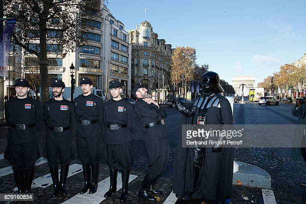 Actors of Darth Vader and his Lieutenants try their costumes at Le Fouquet's ahead of 'Rogue One A Star Wars Story' Film that will be released in...