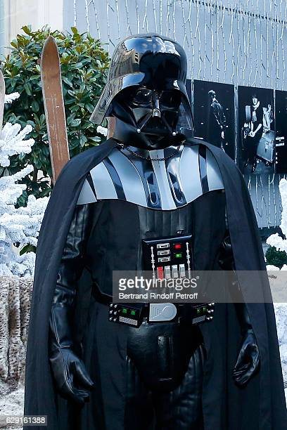 Actors of Darth Vader tries his costume at Le Fouquet's ahead of 'Rogue One A Star Wars Story' Film that will be released in Paris on Dec 14th Held...