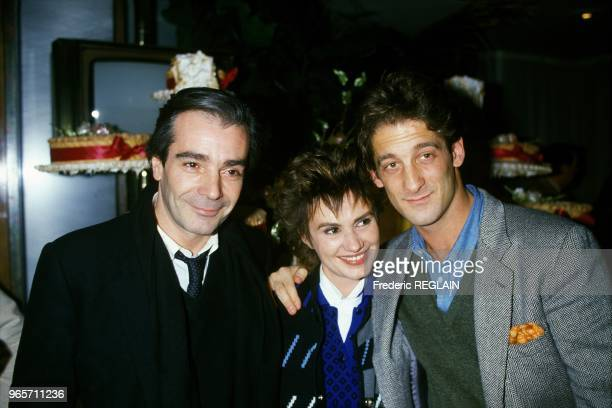 NOVEMBER 18 Actors of Movie Une Vie Comme Je Veux Pierre Arditi Miou Miou and Vincent Lindon in Paris November 18 1985