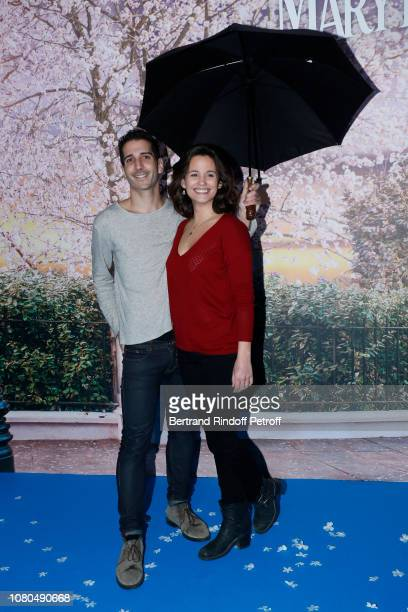 "Actors of the Clem Television Series Kevin Elarbi and Lucie Lucas attend Disney's ""Mary Poppins Returns Paris Gala Screening at UGC Cine Cite Bercy..."