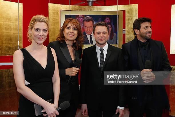 Actors of the film Le Prenom Judith El Zein Valerie Benguigui Guillaume de Tonquedec and Patrick Bruel attend the Cesar Film Awards 2013 at Theatre...