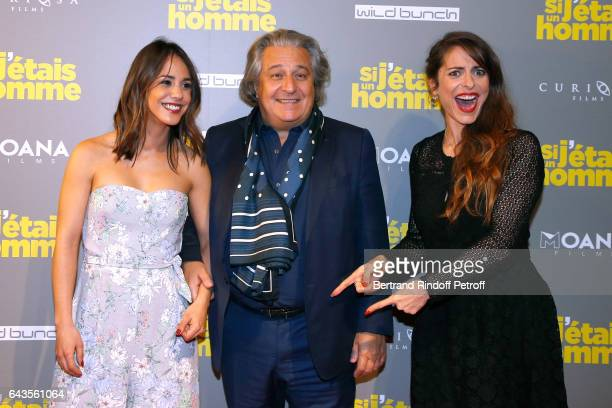 Actors of the movie Alice Belaidi Christian Clavier and Director of the movie Audrey Dana attend the 'Si j'etais un Homme' Paris Premiere at Cinema...