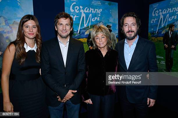 Actors of the movie Alice Pol Guillaume Canet Director of the movie Daniele Thompson and actor of the movie Guillaume Gallienne attend the 'Cezanne...