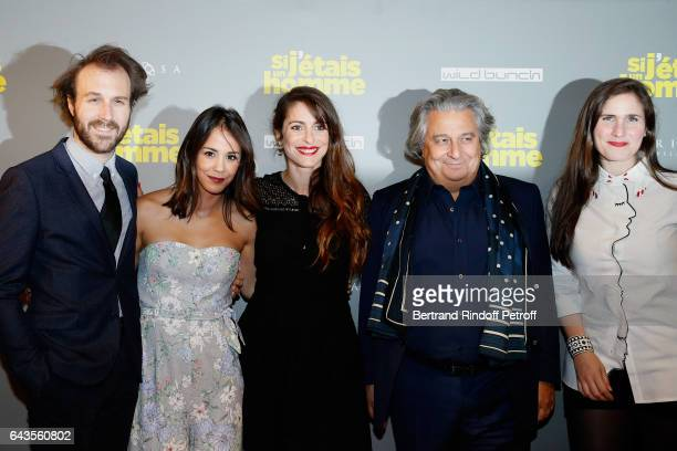 Actors of the movie Antoine Gouy Alice Belaidi Director of the movie Audrey Dana Josephine Drai and Christian Clavier attend the 'Si j'etais un...