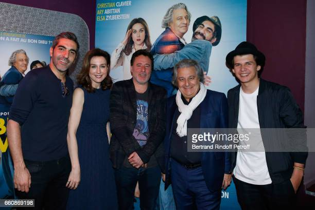 Actors of the movie Ary Abittan Elsa Zylberstein director of the movie Philippe de Chauveron actors of the movie Christian Clavier and Oscar Berthe...