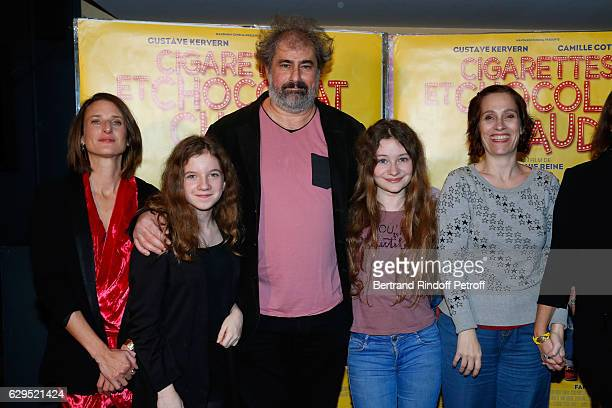 Actors of the movie Camille Cottin Fanie Zanini Gustave Kervern Heloise Dugas and Direcor of the movie Sophie Reine attend the Cigarettes Chocolat...