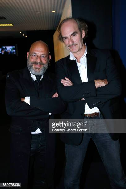 Actors of the movie Christian Hecq and Michel Vuillermoz attend the Knock Paris Premiere at Cinema UGC Normandie on October 16 2017 in Paris France