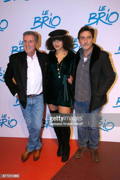 Actors of the movie Daniel Auteuil Camelia Jordana and director of the movie Yvan Attal attend the 'Le Brio' movie Premiere at Cinema Gaumont Opera...