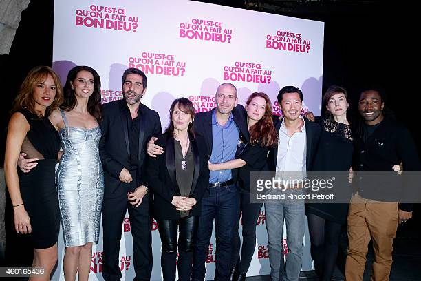 Actors of the movie Elodie Fontan Frederique Bel Ary Abittan Chantal Lauby Medi Sadoun Julia Piaton Frederic Chau Emilie Caen and Noom Diawara attend...