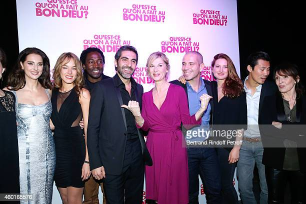 Actors of the movie Frederique Bel Elodie Fontan Noom Diawara Ary Abittan Michele Laroque Medi Sadoun Julia Piaton Frederic Chau and Chantal Lauby...