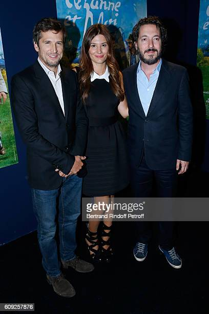 Actors of the movie Guillaume Canet Alice Pol and Guillaume Gallienne attend the 'Cezanne et Moi' movie Premiere to Benefit 'Claude Pompidou...