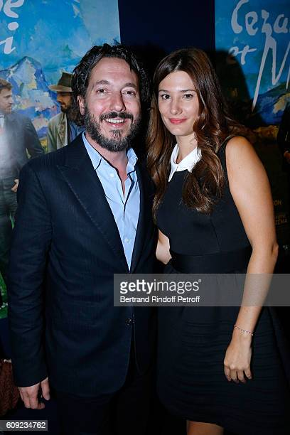 Actors of the movie Guillaume Gallienne and Alice Pol attend the 'Cezanne et Moi' movie Premiere to Benefit 'Claude Pompidou Foundation' Held at UGC...