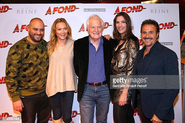 Actors of the movie Jerome Commandeur Caroline Vigneaux Andre Dussollier Jose Garcia and Charlotte Gabris attend the 'A Fond' Paris Premiere at...