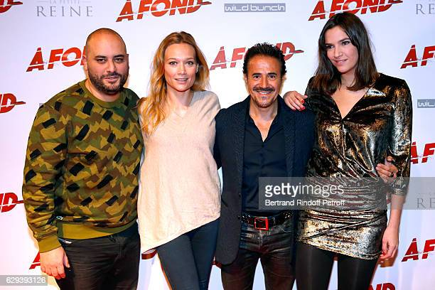 Actors of the movie Jerome Commandeur Caroline Vigneaux Jose Garcia and Charlotte Gabris attend the A Fond Paris Premiere at Cinema Gaumont Capucine...
