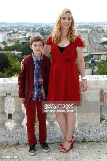 Actors of the movie 'Le petit Spirou' Sacha Pinault and Natacha Regnier attend the 10th Angouleme FrenchSpeaking Film Festival Day Six on August 27...