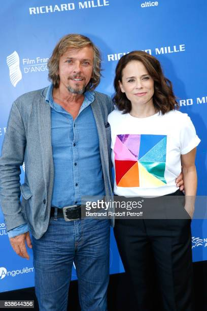 Actors of the movie 'Le rire de ma mere' Pascal Demolon and Suzanne Clement attend the 10th Angouleme FrenchSpeaking Film Festival Day Three on...