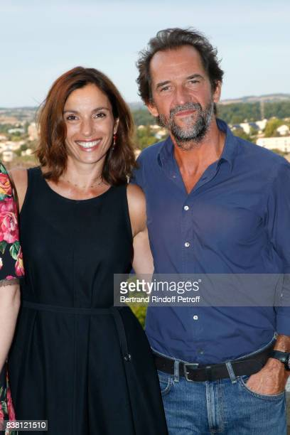 Actors of the movie L'un dans l'autre Aure Atika and Stephane De Groodt attend the 10th Angouleme FrenchSpeaking Film Festival Day Two on August 23...