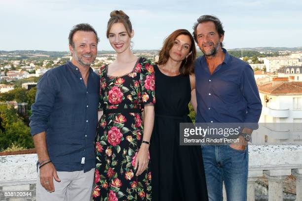 Actors of the movie L'un dans l'autre PierreFrancois MartinLaval Louise Bourgoin Aure Atika and Stephane De Groodt attend the 10th Angouleme...
