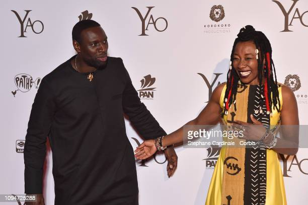 Actors of the movie Omar Sy and Fatoumata Diawara attend 'Yao' Paris Premiere at Le Grand Rex on January 15 2019 in Paris France