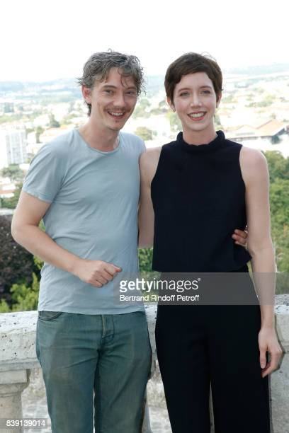 Actors of the movie 'Petit paysan' Swann Arlaud and Sara Giraudeau attend the 10th Angouleme FrenchSpeaking Film Festival Day Four on August 25 2017...