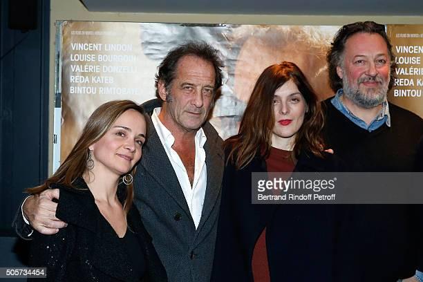 Actors of the movie Raphaelle Bruneau Vincent Lindon Valerie Donzelli and JeanHenri Compere attend the 'Les Chevaliers Blancs' movie Premiere at UGC...