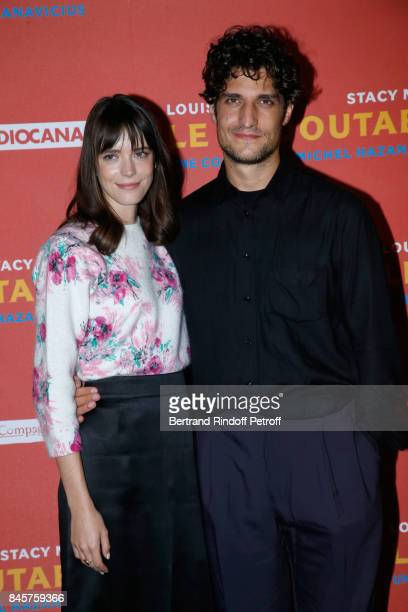 Actors of the movie Stacy Martin and Louis Garrel attend the 'Le Redoutable' Paris Premiere at Cinema du Pantheon on September 11 2017 in Paris France