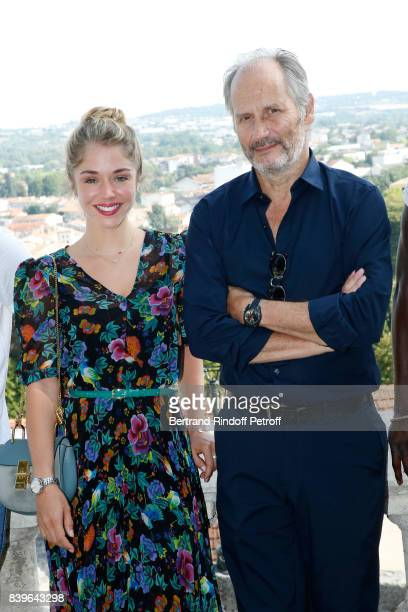 Actors of the movie 'Surface de reparation' Alice Isaaz and Hippolyte Girardot attend the 10th Angouleme FrenchSpeaking Film Festival Day Five on...