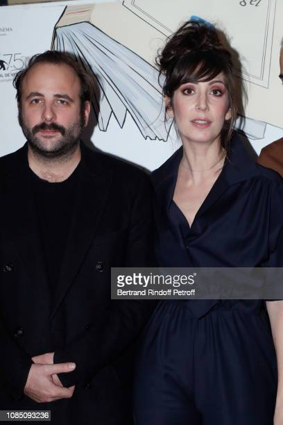 Actors of the movie Vincent Macaigne and Nora Hamzawi attend the Doubles Vies Premiere at UGC Cine Cite les Halles on December 20 2018 in Paris France