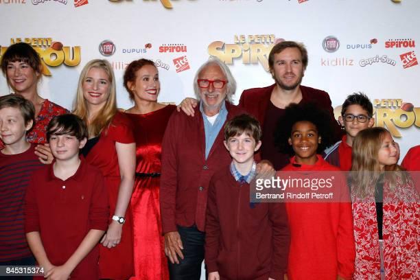 Actors of the movie Virginie Hocq Natacha Regnier Gwendolyn Gourvenec Pierre Richard 'Le Petit Spirou' Sacha Pinault Director Nicolas Bary and actors...
